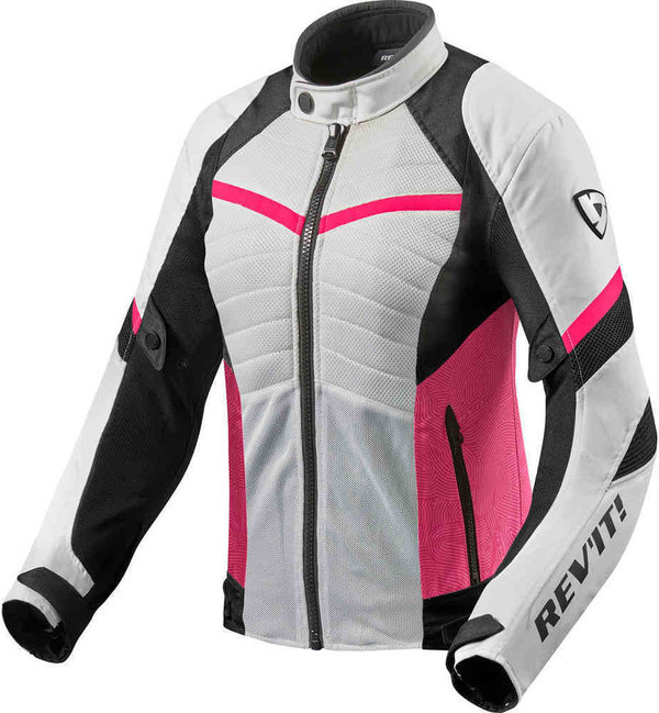 Revit Textiljacke Arc Air Ladies weiß/fuchsia