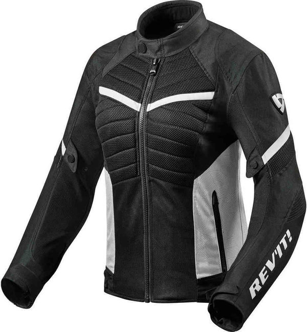 Revit Textiljacke Arc Air Ladies schwarz/weiß