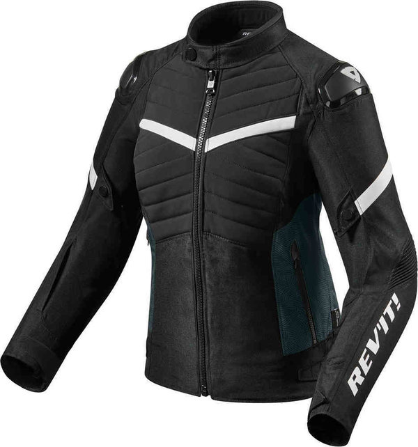 Revit Textiljacke Arc H2O Ladies schwarz/weiß
