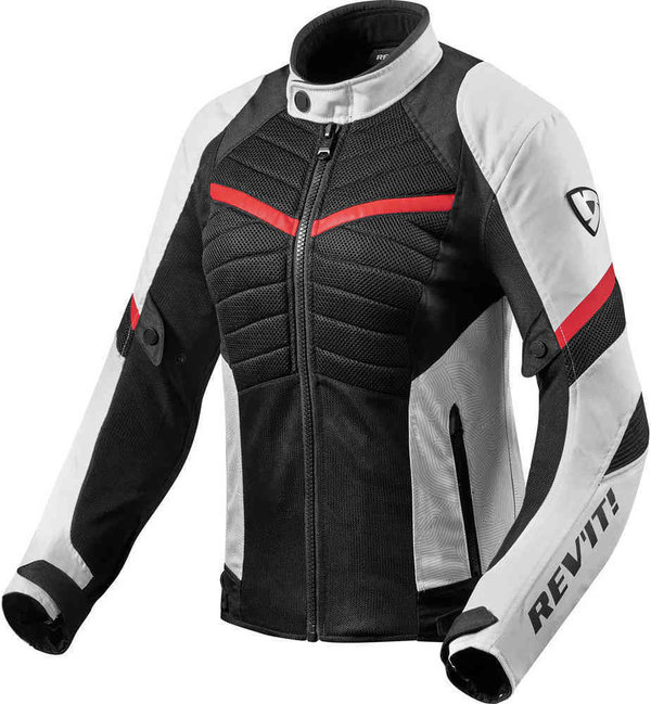 Revit Textiljacke Arc Air Ladies weiß/rot