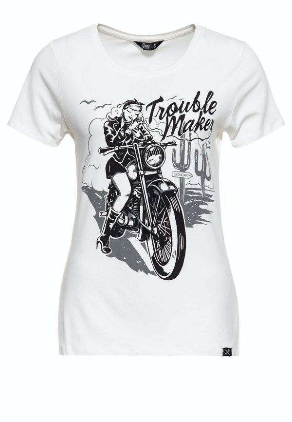 Queen Kerosin Slim fit Print Shirt »TROUBLE MAKER«